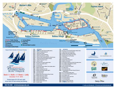 new year parade route map newport boat parade enhances visitor
