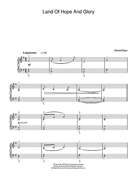 pomp circumstance and sheet music class of 2014 edward elgar land of hope and glory pomp and