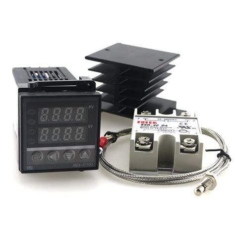 Rex C 100 Digital Pid Temperature Controller Dan Ssr 40a dual digital pid temperature controller kit rex c100 with ssr 40da heat sink 2m quality k jpg