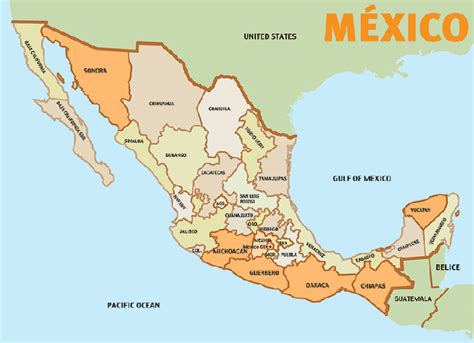 map of mexico regions in search of the blue agave tequila in mexico