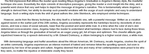 Angelou Essay by Angelou Essay Compare And Contrast Work By Angelou And Overheard Ayucar