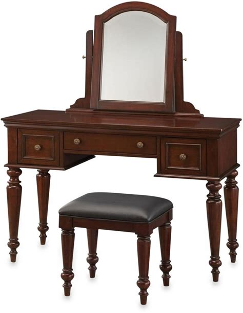 vanity table and bench set home styles lafayette vanity table and bench set in cherry