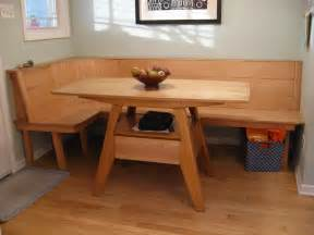 Kitchen Tables With Bench Bill Groot Maple Wood Kitchen Table And Built In Bench Seating