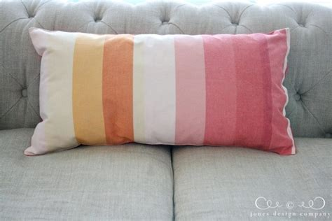 Table Pillows by Make A Pillow Out Of A Table Runner Tutorial Jones Design Company