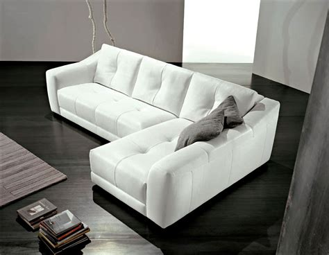 Sweet Living Room Interior Design With L Shaped White White Leather L Shaped Sofa