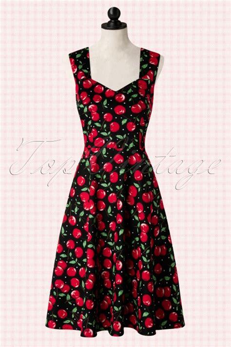 Dress Chery 50s vienna cherry dress in black