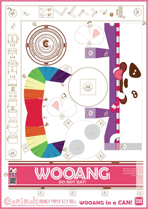 Canimals Papercraft - wooang by voozclub on deviantart