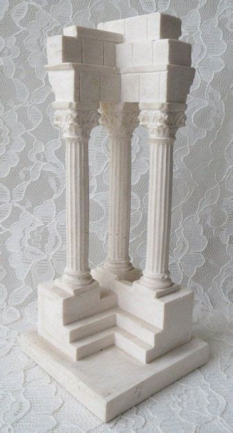roman columns for home decor vintage r leoni classical roman forum temple column by
