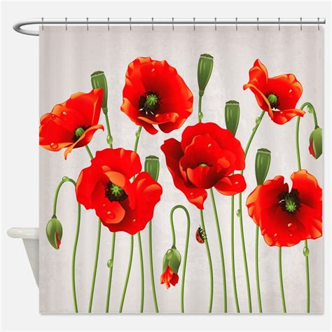 red poppy shower curtain poppy shower curtains poppy fabric shower curtain liner