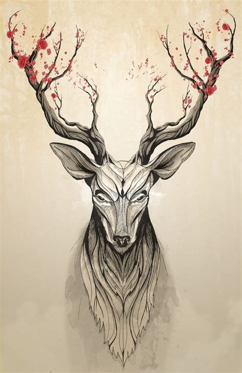 44 best deer and tree tattoos images on pinterest tree