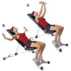 incline bench flyes incline chest flies women s health magazine