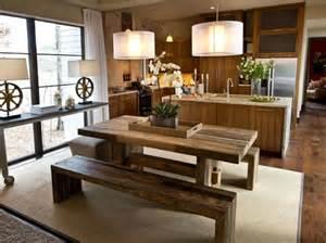 15 ideas de comedores decorados estilo r 250 stico bench dining room set