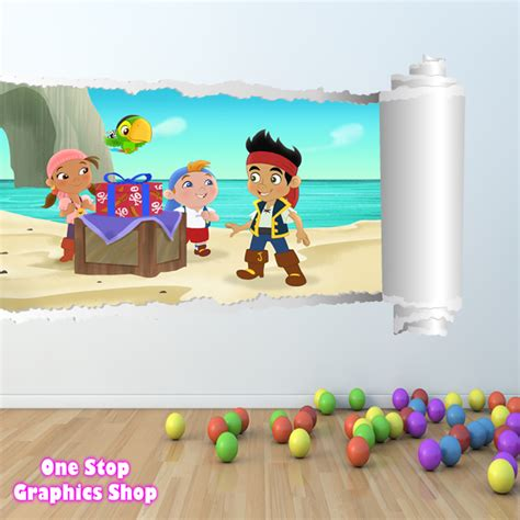 jake and the neverland wall stickers jake and the neverland wall sticker colour