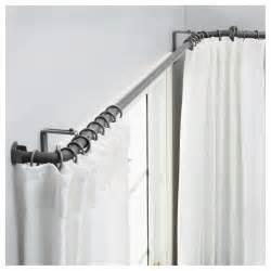 Hugad curtain rod combination bay window silver colour ikea