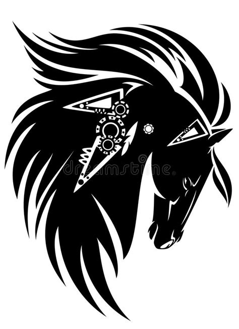 tribal horse stock vector image 46102946