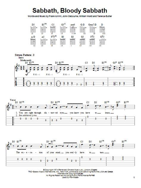 my bloody chords sabbath bloody sabbath sheet direct