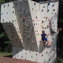 Rock Climbing Wall For Backyard Backyard Climbing Wall Make