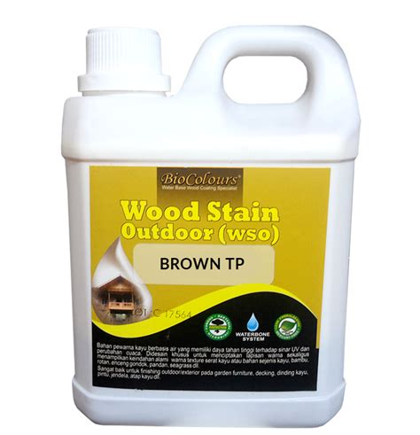 Biovarnish Wood Stain biocolours 174 wood stain brown tp cat paint coating
