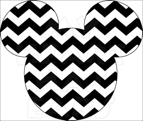 printable iron on silhouette mickey mouse chevron instant download digital clip art diy