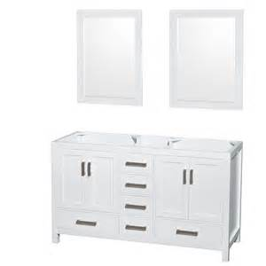 60 Inch Vanity White Wyndham Collection Wcs141460dwhcxsxxm24 Sheffield 60 Inch
