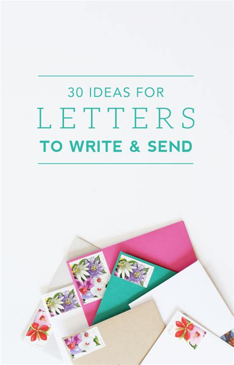 creative letter writing ideas www pixshark com images 30 ideas for letters to write and send green fingerprint