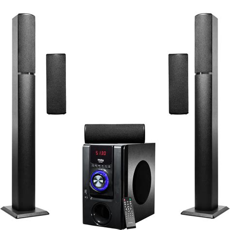 frisby 5 1 surround sound home theater tower wireless