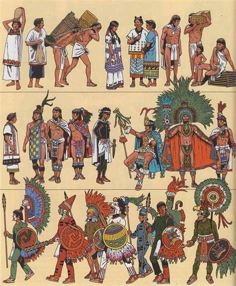 imagenes de nobles aztecas las diferentes vestimentas d la sociedad mexica primero