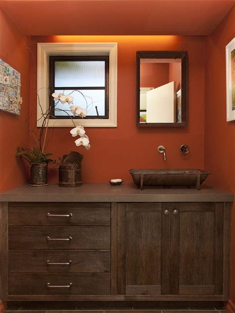 orange bathroom cabinet orange bathrooms eclectic bathroom and cabinets on