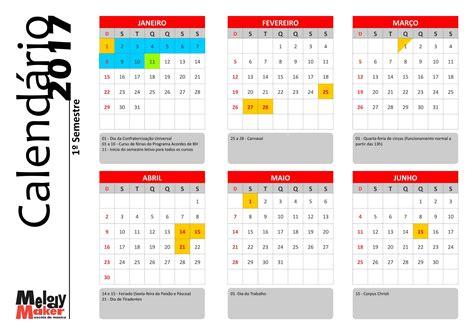 Calendario Anual Calend 225 Anual Dos Cursos 2017 Melody Maker