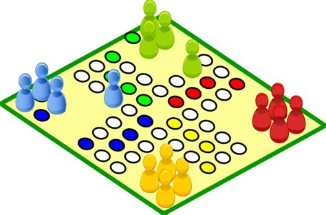 Clovece Nezlob Se Board Game Clip Art at Clker.com - vector clip art ... Boardgame