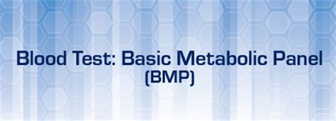 Basic Metabolic Panel Also Search For Blood Test Basic Metabolic Panel Bmp