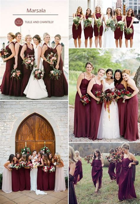 Top 10 Colors for Fall Bridesmaid Dresses 2015   Marsala