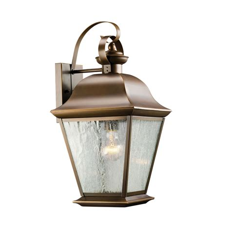 Outdoor Wall Mount Lighting Shop Kichler Mount Vernon 19 5 In H Olde Bronze Outdoor Wall Light At Lowes