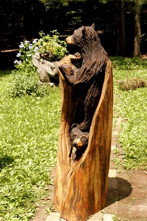 Cubs Bench Todd Two Cubs In Log B Red Mountain Arts