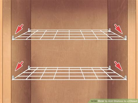 how to cut wire shelving how to add shelves to a closet 7 steps with pictures wikihow
