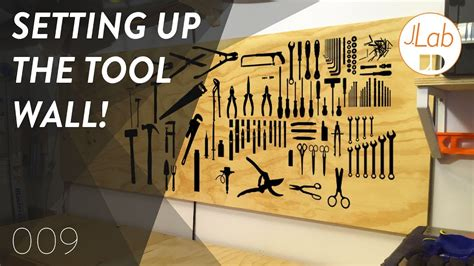 easy diy tool wall shop projects ep  youtube