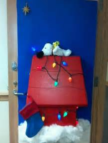 snoopy s my door for decorated door contest at