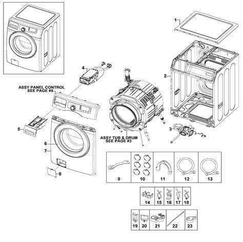 samsung washer parts samsung washer parts model wf220anwxaa0001 sears partsdirect