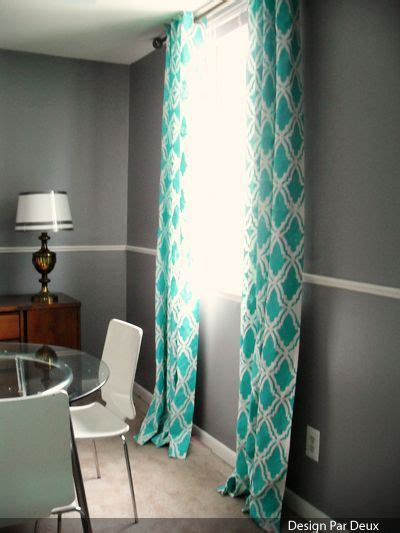 spray curtains great idea spray paint stenciled curtains look great