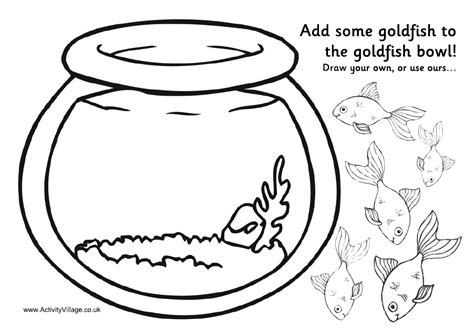 fish bowl cutout template learning corner coloring