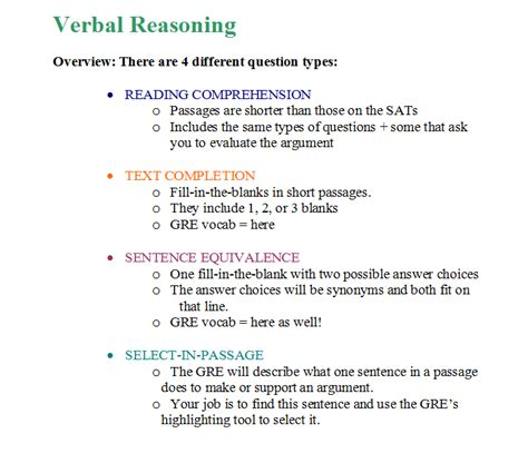 gre verbal section tips 16 the verbal reasoning section question types strategies