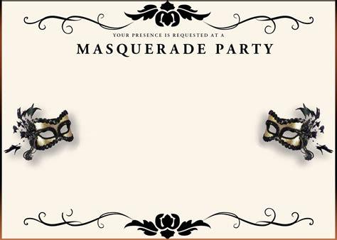 Printable Invitations by Free Printable Masquerade Invitation Templates