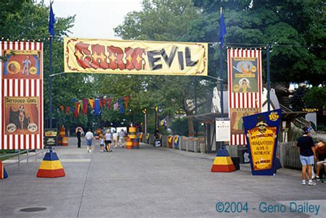 swan boats cedar point new for 2004 is quot carn evil quot a carnival side show gone
