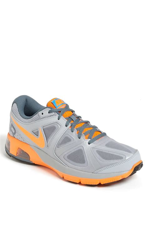 nike orange and grey running shoes nike air max run lite 4 running shoe in gray for grey