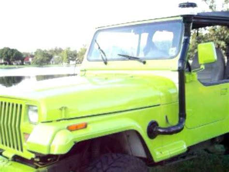 homemade jeep snorkel mean green 1988 jeep wrangler lifted w homemade snorkel