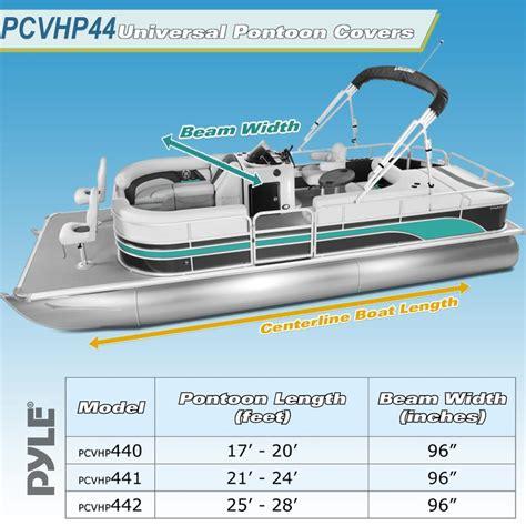 pontoon boat sizes pylesports pcvhp441 armor shield trailer guard pontoon