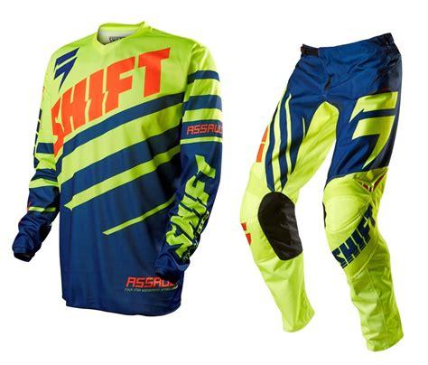 shift motocross gear shift mx 2015 assault race navy yellw mtb bmx