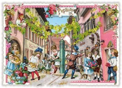Postkarten Drucken Freiburg by Tausendsch 214 N Freiburg I B Altstadt Postkarte