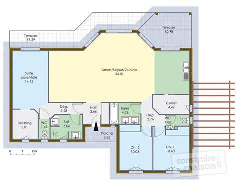 maison 224 ossature bois 1 d 233 du plan de 224