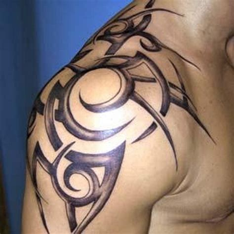 mens upper arm tribal tattoos shoulder designs ideas mag